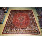10x12 Authentic Hand Knotted Semi-antique Rug B-74655