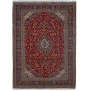 10x14 Authentic Hand-knotted Oriental Signed Wool Rug Red B-81327