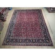 10x12 Authentic Hand Knotted Signed Mahal Wool Rug Red B-74461