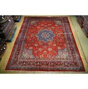10x13 Authentic Hand Knotted Semi-antique Wool Rug Red B-74738