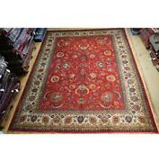 11x13 Authentic Hand Knotted Signed Oriental Wool Rug Red B-74583