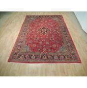 7x11 Authentic Hand Knotted Semi-antique Rug B-73053