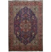 8x12 Authentic Hand-knotted Oriental Signed Wool Rug Blue B-81348
