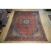 8x11 Authentic Hand Knotted Color Abrash Worn Rug B-74838