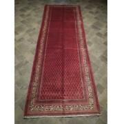 4x10 Hand Knotted Semi-antique Mir Wool Runner Red B-73934