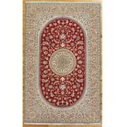 5x8 Hand-knotted Wool And Silk Signed Rug 400 Kpsi Pix-29294