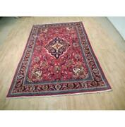 7x11 Hand Knotted Semi-antique Mahal Rug B-73050