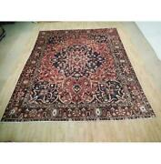 10x12 Hand Knotted Semi-antique Bakhtiari Wool Rug Red B-73027