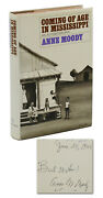 Coming Of Age In Mississippi Signed By Anne Moody Early Print Civil Rights
