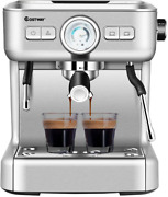 Costway Semi-automatic Espresso Machine 20 Bar Pump Built-in Milk Frother And