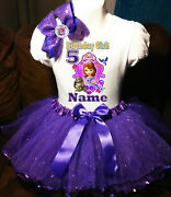 Sofia The First Shirt Name Birthday Party 5th 5 Personalized Purple Tutu Dress