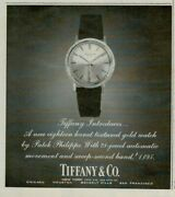 1969 Patek Philippe 18k Textured Gold Watch And Co Original Print Ad