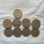 Rare 1 Ruble Collection 14 Coins Vintage Ussr