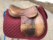 Euc 17 Marcel Toulouse Close Contact Leather Jumping Saddle