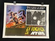 Vnt 1982 Miles Oand039keeffelisa Foster The Blade Master Mexican Lobby Card 16x12