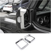 For Jeep Wrangler Jl 2018-2020 Rear View Side Mirror Frame Cover Trim Abs Chrome