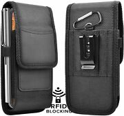 Vertical Holster Pouch Nylon Wallet Case With Belt Loop For Samsung Cell Phone