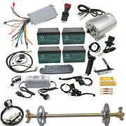 1800w 48v Brushless Motor Controller Throttle Battery Pedal+29 Rear Axle Kits