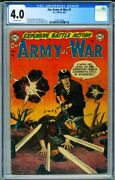 Our Army At War 1 Cgc 4.0 First Issue-rare-war Comic 2126176003
