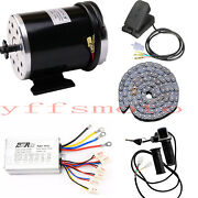 48v 1000w Electric Brushed Controller Motor Ggrip Chain Fit Atv Go Kart Scooter