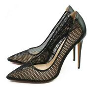 Womens Sexy Black Mesh Cut Out Pointed Toe Stilettos High Heels Pumps Shoes New