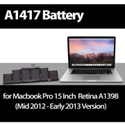 Compatible For Apple Macbook Retina Pro 15 Inch A1398 95wh A1417 Laptop Battery
