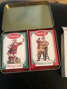 New Coca-cola Limited Edition 1993 Nostalgia Santa Playing Cards