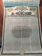 Mexico 1908 Irrigation Development 1000 Gold Coupons Not Cancelled Bond Loan