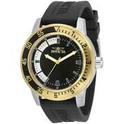 Menand039s Watch Specialty Quartz Black And Silver Dial Black Strap 34097