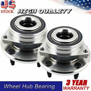 Set 2 Front Wheel Hub And Bearing Assembly Fits Chevrolet Corvette 2014-2019 Fwd