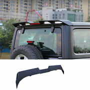 For 2007 2008-2020 Jeep Wrangler Black Roof Boot Spoiler Wing Flap With Lights