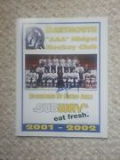 Early Autograph Of Sidney Crosby Signed Very Rare Dartmouth Subway Aaa Program.