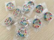 Sdgs 10 Pin Badges United Nations Headquarte's Limited Sale Silver 30 Pin Backs