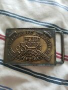 Vintage Belt Buckle Henry Ford Detroit Record Year Model T Automobiles