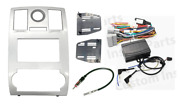 Silver Double Din Radio Install Dash Kit Steering Wheel Control Wiring Harness