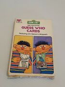 Whitman 1978 Sesame Street See And Know Guess Who Flash Cards 5.75 X 3.5