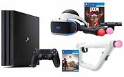 Ps4 Shooter Bundle Playstation 4 Pro 1tb Console Vr Headset Farpoint Aim Video
