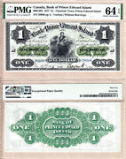 1877 1 The Bank Of Pei 600-12-04. Condition Rarity Pmg Choice Unc64 Epq