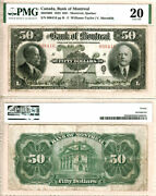 1923 50 Bank Of Montreal Issued Note Pmg Vf20 505-56-08