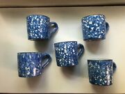 Stangl Town And Country Spongeware Mugs 5 Four Arts Crafts Period Mission