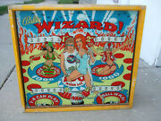 1975 Bally Wizard Complete Pinball Machine Head Only And Sweet Backglass