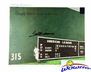 Ted Williams Dual Signed 16x20 Green Monster Litho Green Diamond Psa/dna Le 550