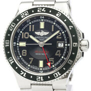 Polished Breitling Super Ocean Gmt Ltd Edition Automatic Watch A3238 Bf518136