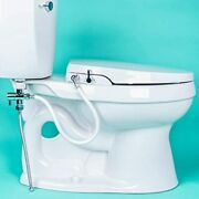 Geniebidet [elongated] Seat-self Cleaning Dual Nozzles. Rear And Feminine Cleaning