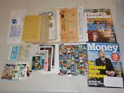 Huge Lot Of Collectibles W/ Magazines Jumbo Sports Cards Rare Items Nice L95