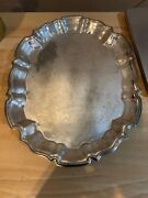 Vintage Leonard Silverplate Oval Footed Serving Tray