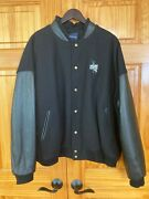 Coors Original Rodeo Jacket Black On Black Wool And Full Leather Sleeves