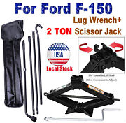 Scissor Jack And Spare Tire Tool Set Lug Wrench Extension For Ford F1502004-2014