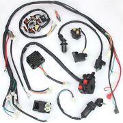 Wiring Harness Loom Solenoid Coil Cdi For Atv Pit Quad Dirt Bike 100/110/125cc