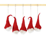 Felted Santa Ornaments For Christmas And Winter Holidays Hanging Santa Clauses